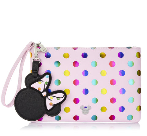 MINNIE MOUSE POLKA DOT POUCH & BRUSH SET