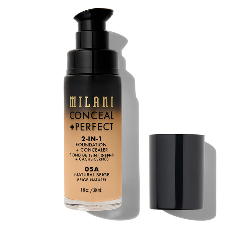MILANI CONCEAL + PERFECT 2-IN-1 FOUNDATION - NATURAL BEIGE Glam Raider