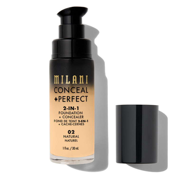 MILANI CONCEAL + PERFECT 2-IN-1 FOUNDATION - NATURAL Glam Raider