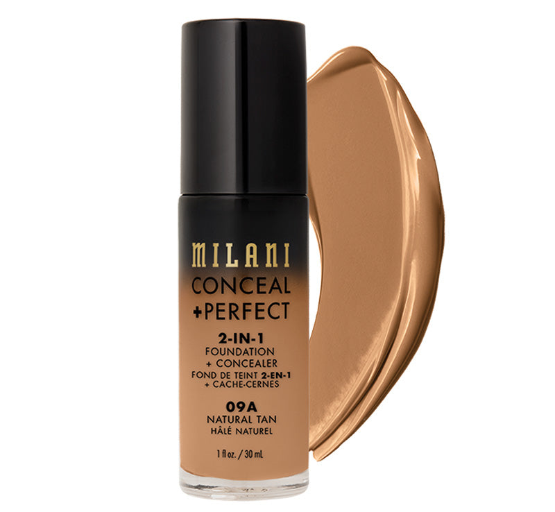 MILANI CONCEAL + PERFECT 2-IN-1 FOUNDATION - NATURAL TAN Glam Raider