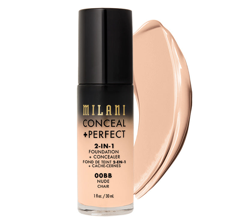 MILANI CONCEAL + PERFECT 2-IN-1 FOUNDATION - NUDE Glam Raider