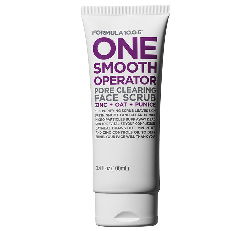 FORMULA 10.0.6 ONE SMOOTH OPERATOR PORE CLEARING FACE SCRUB Glam Raider