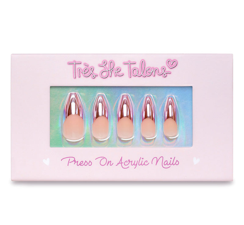 TRÈS SHE TALONS PAY ME PRESS-ON ACRYLIC NAILS Glam Raider