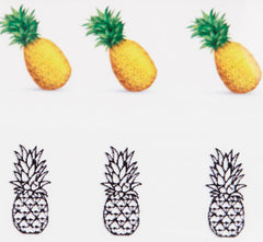 Pineapple Nail Decals