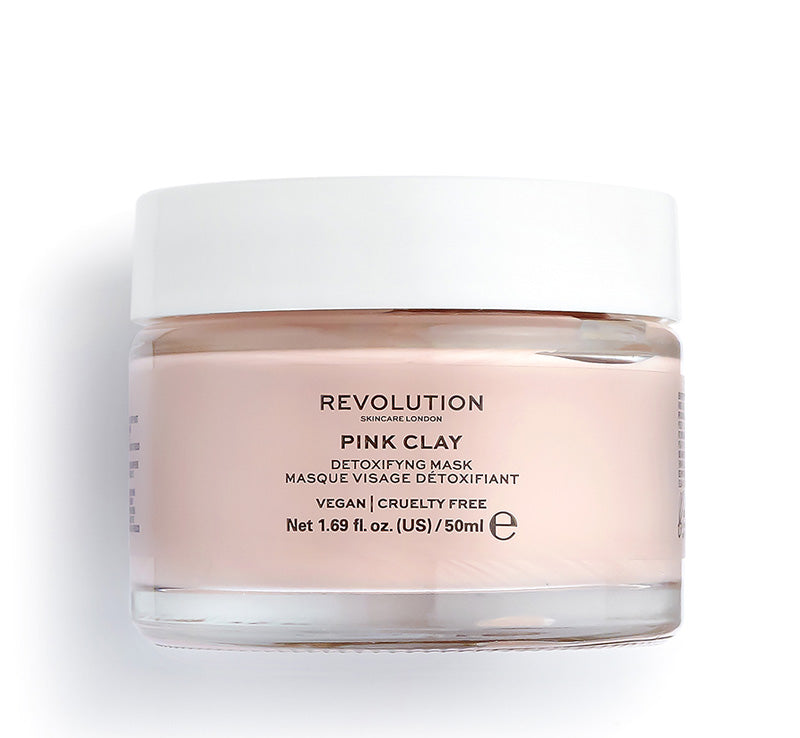 REVOLUTION SKINCARE PINK CLAY DETOXIFYING MASK Glam Raider