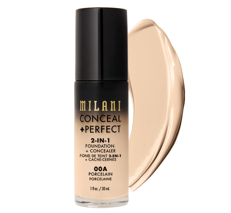 MILANI CONCEAL + PERFECT 2-IN-1 FOUNDATION - PORCELAIN Glam Raider