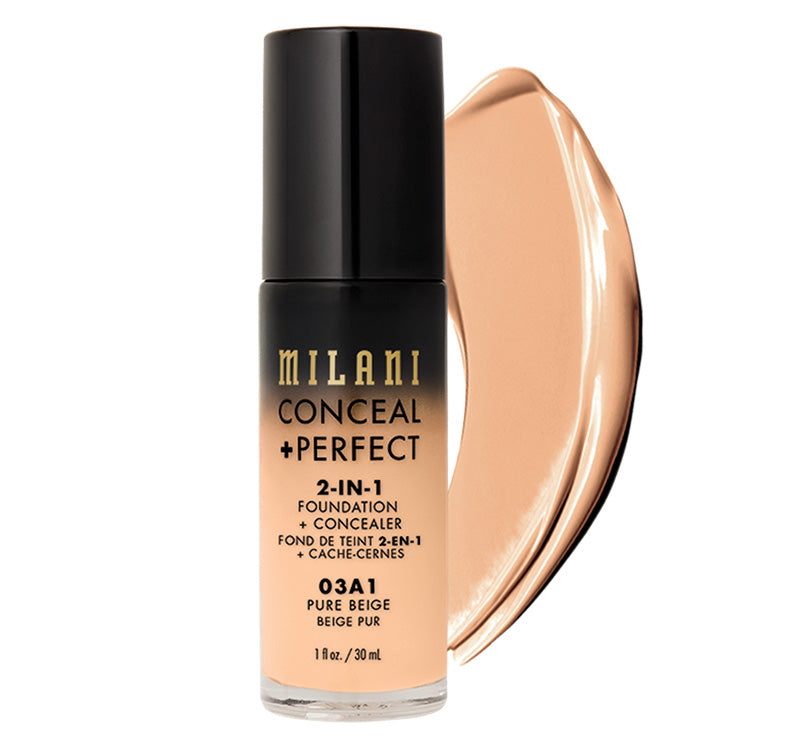 MILANI CONCEAL + PERFECT 2-IN-1 FOUNDATION - PURE BEIGE Glam Raider