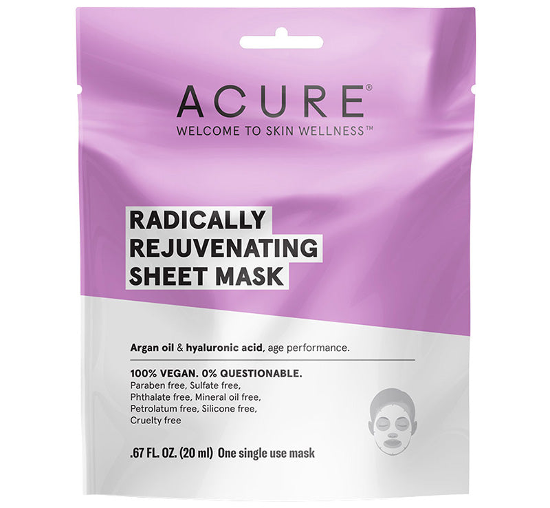 ACURE RADICALLY REJUVENATING SHEET MASK Glam Raider
