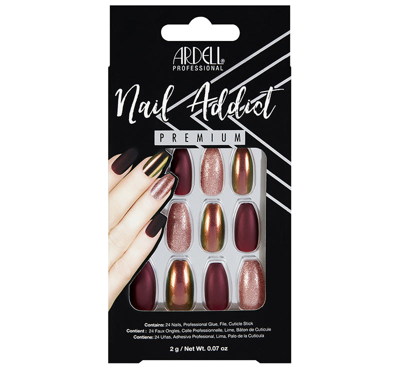 ARDELL RED CATEYE NAIL ADDICT NAILS Glam Raider