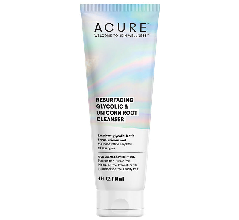 ACURE RESURFACING GLYCOLIC & UNICORN ROOT CLEANSER Glam Raider