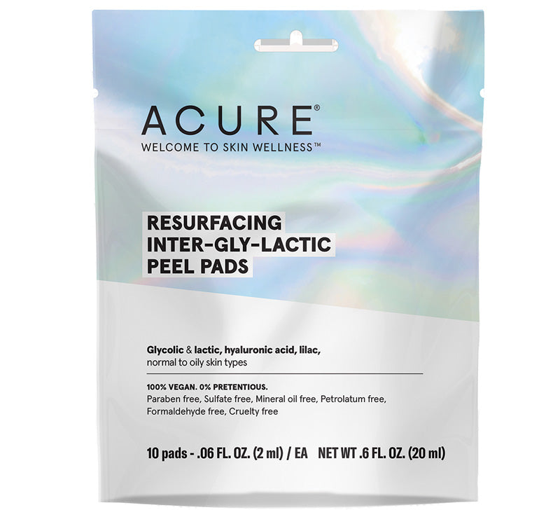 ACURE RESURFACING INTER-GLY-LACTIC PEEL PADS Glam Raider
