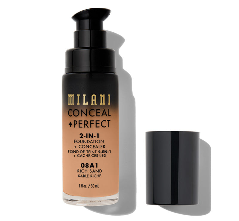 MILANI CONCEAL + PERFECT 2-IN-1 FOUNDATION - RICH SAND Glam Raider