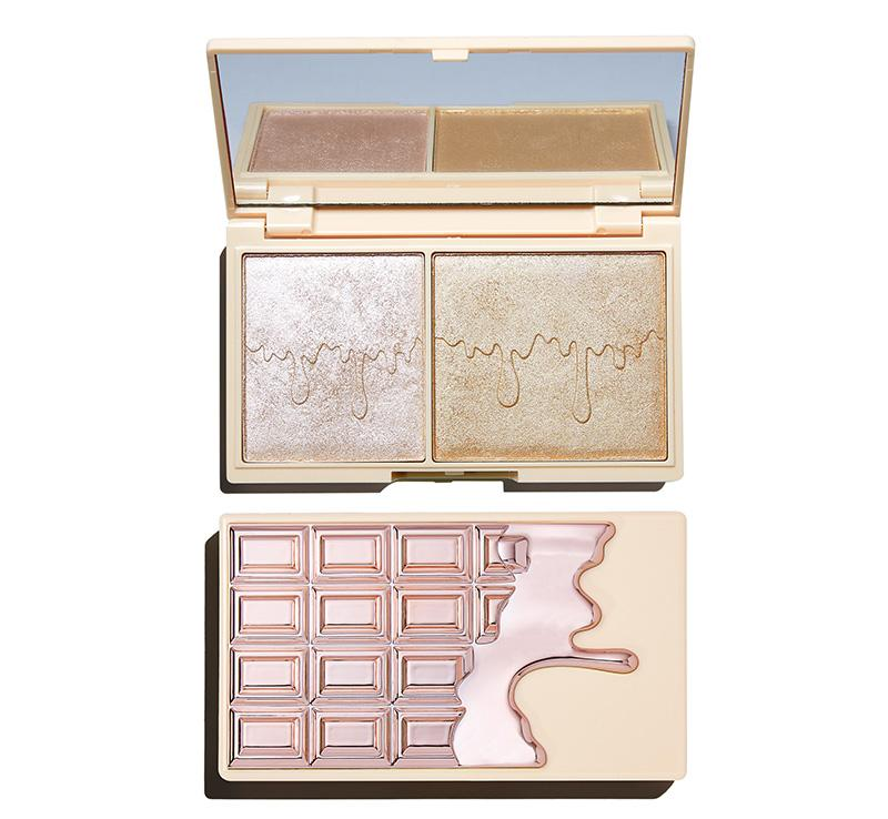 I HEART REVOLUTION ROSE GOLD GLOW MINI CHOCOLATE PALETTE Glam Raider