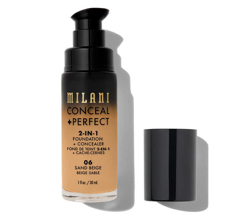 MILANI CONCEAL + PERFECT 2-IN-1 FOUNDATION - SAND BEIGE Glam Raider