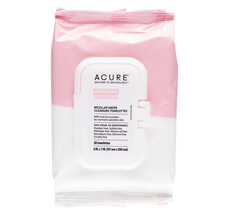 ACURE SERIOUSLY SOOTHING MICELLAR WATER TOWELETTES Glam Raider