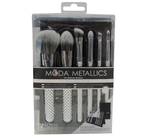 TOTAL FACE BRUSH KIT - SILVER