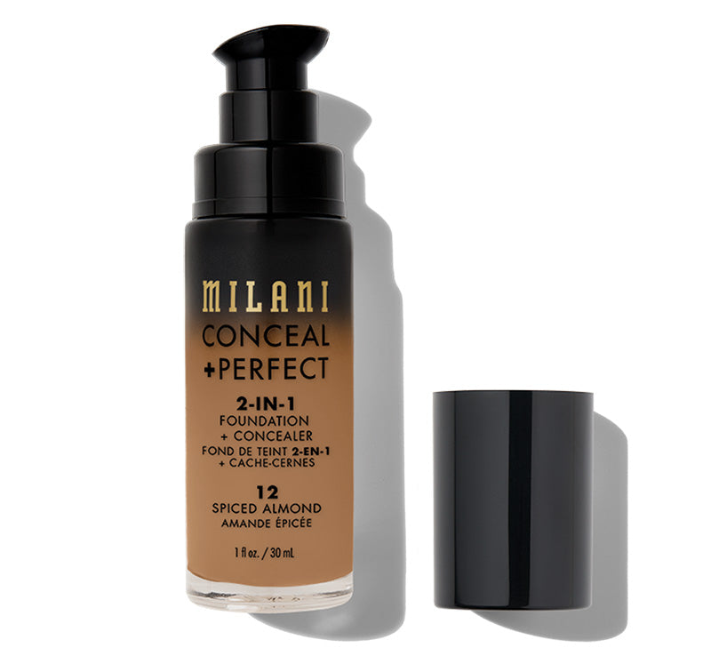 MILANI CONCEAL + PERFECT 2-IN-1 FOUNDATION - SPICED ALMOND Glam Raider