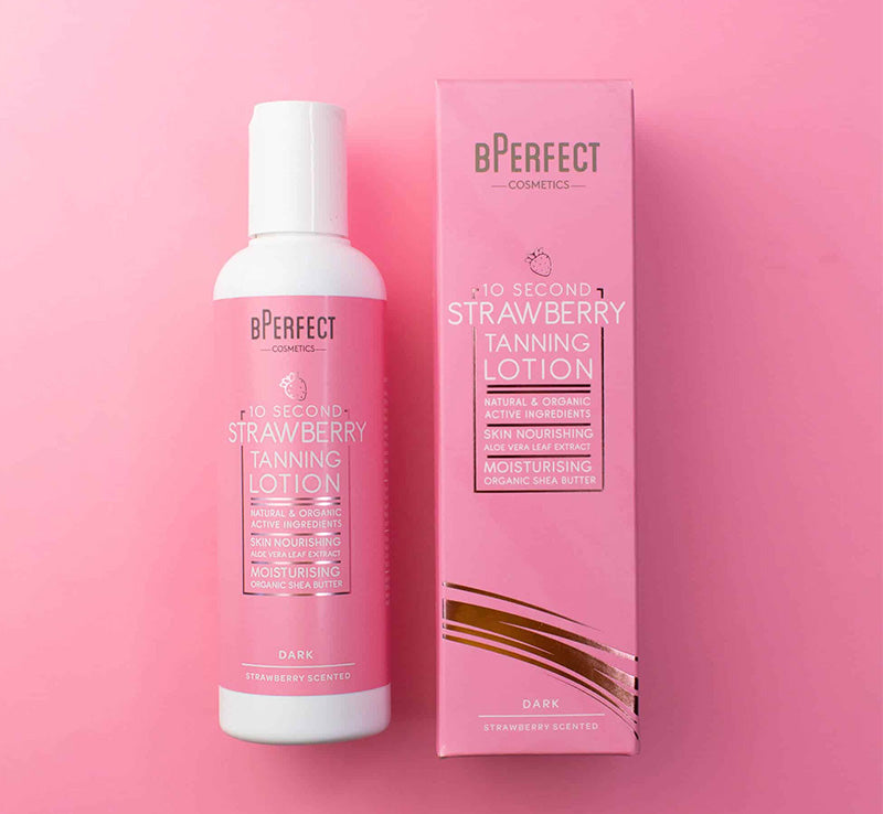 BPERFECT 10 SECOND STRAWBERRY TANNING LOTION - DARK Glam Raider