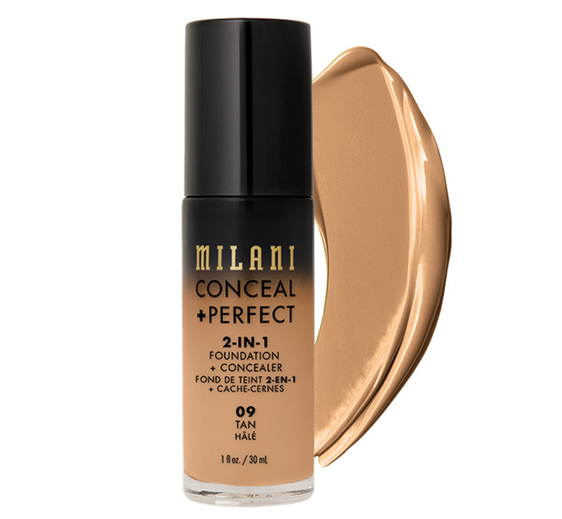 MILANI CONCEAL + PERFECT 2-IN-1 FOUNDATION - TAN Glam Raider