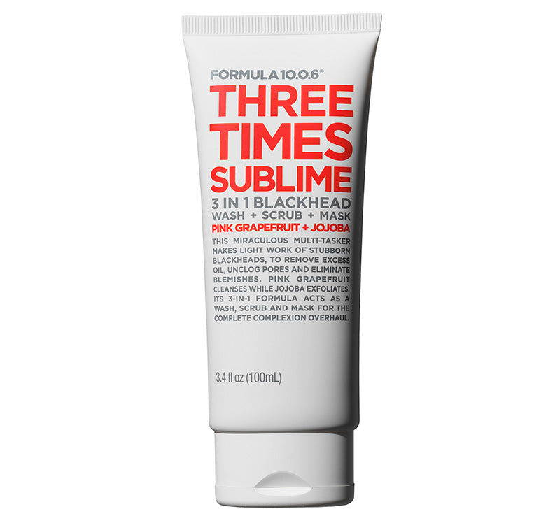 FORMULA 10.0.6 THREE TIMES SUBLIME 3 in 1 BLACKHEAD WASH, SCRUB, MASK Glam Raider
