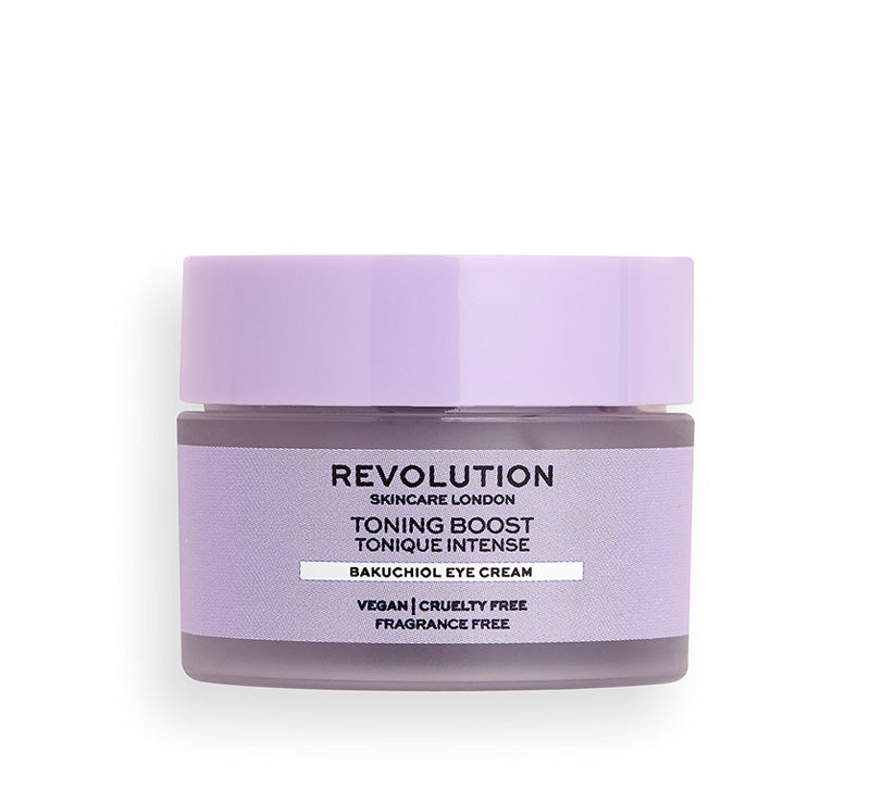 REVOLUTION SKINCARE TONING BOOST FIRMING BAKUCHIOL EYE CREAM Glam Raider
