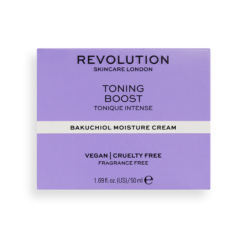 REVOLUTION SKINCARE TONING BOOST BAKUCHIOL MOISTURE CREAM Glam Raider