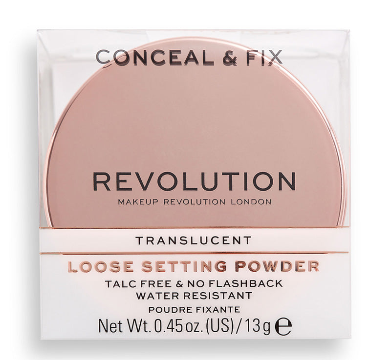 MAKEUP REVOLUTION CONCEAL & FIX SETTING POWDER TRANSLUCENT Glam Raider