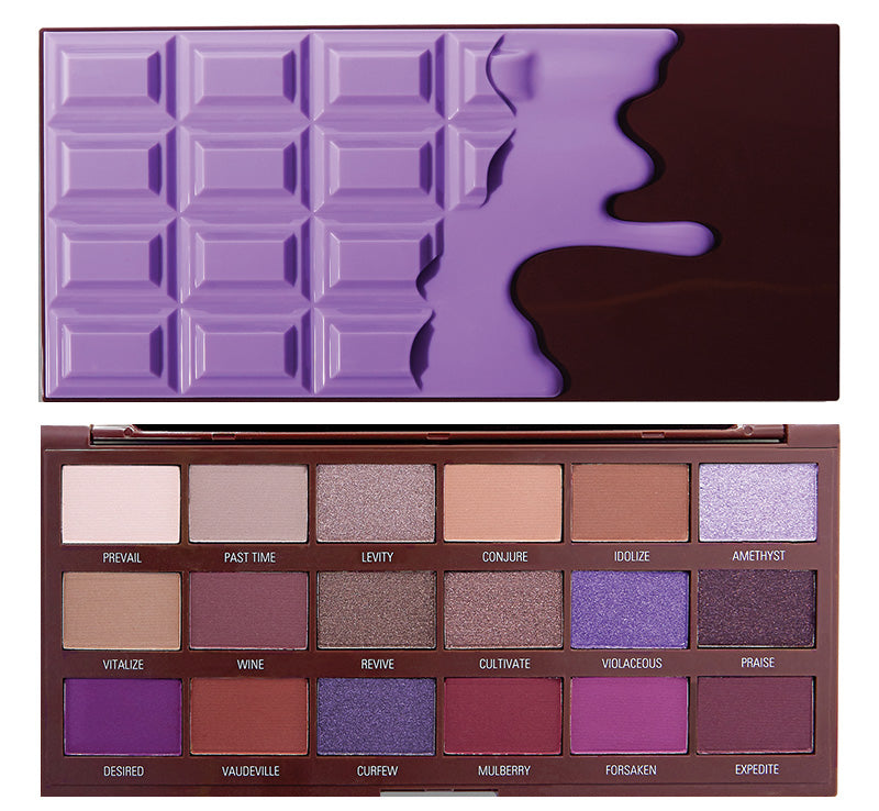 I HEART REVOLUTION VIOLET CHOCOLATE PALETTE Glam Raider