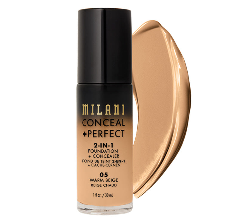 MILANI CONCEAL + PERFECT 2-IN-1 FOUNDATION - WARM BEIGE Glam Raider