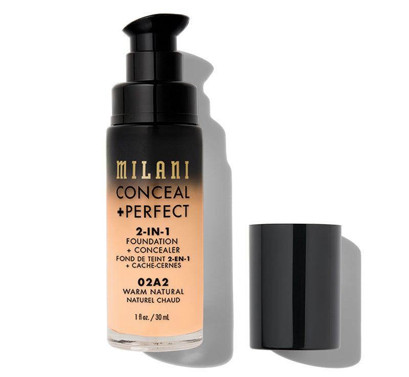 MILANI CONCEAL + PERFECT 2-IN-1 FOUNDATION - WARM NATURAL Glam Raider