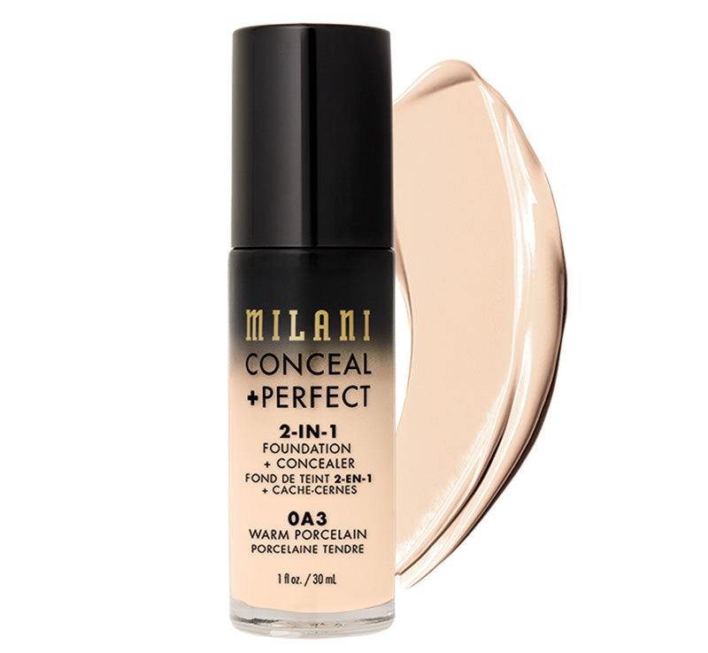 MILANI CONCEAL + PERFECT 2-IN-1 FOUNDATION - WARM PORCELAIN Glam Raider