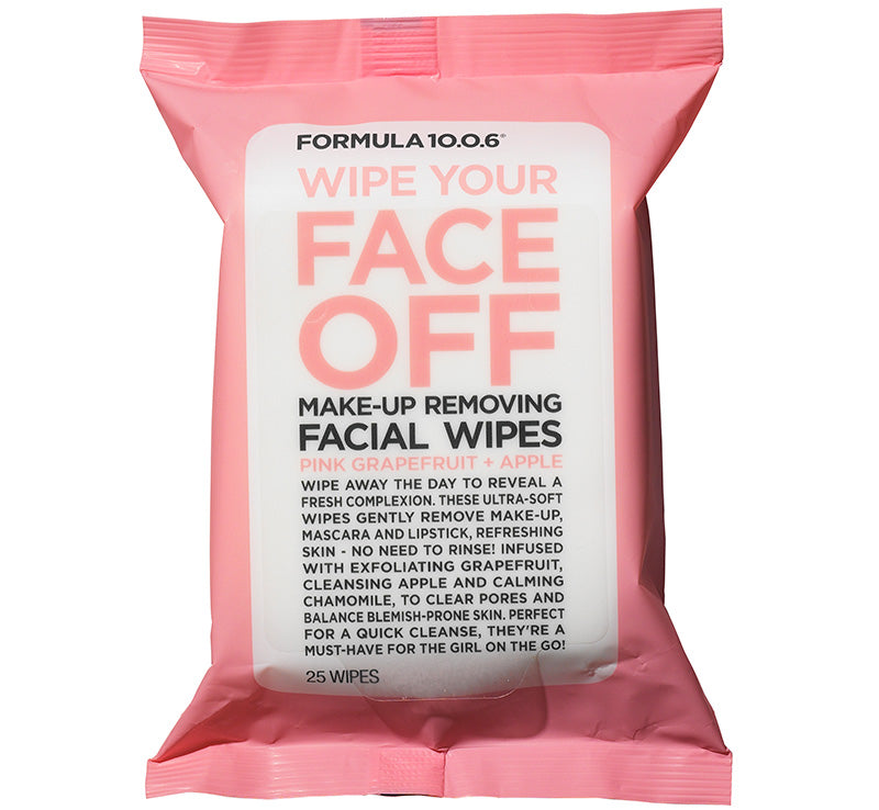 FORMULA 10.0.6 WIPE YOUR FACE OFF MAKEUP REMOVING FACIAL WIPES Glam Raider