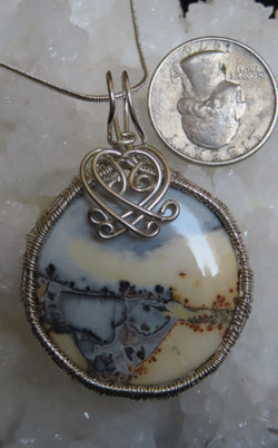 """Summer at the Lake"" Maligano pendant with chain"