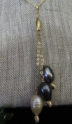 """Simplicity"". Beautiful Cultured Pearl drop pendant with chain"
