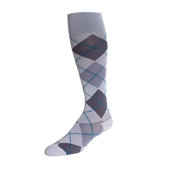 REJUVA Argyle Smoke Below Knee Socks 15 - 20mmHG - Soul Legs