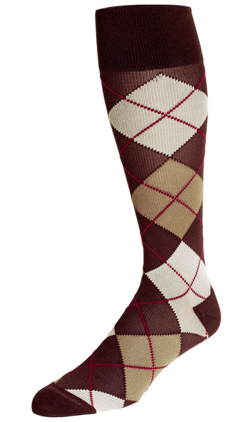 Compression Socks For Travel - REJUVA Argyle Chestnut 15 - 20mmHG - Soul Legs