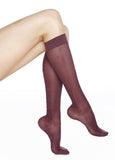 REJUVA Sheer Dot Plum Below Knee Stockings 15 - 20mmHG - Soul Legs