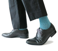 SOUL LEGS Men's Aqua Diamond Block Dress Socks 15 - 20mmHG - Soul Legs
