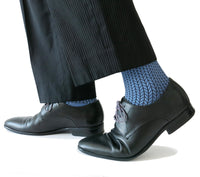 SOUL LEGS Men's Blue Chevron Dress Socks 15 - 20mmHG - Soul Legs