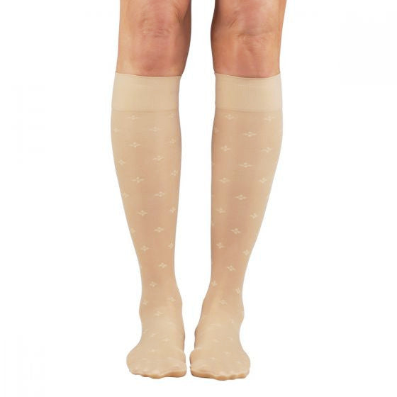 SOUL LEGS Sheer Petal Toss Nude Below Knee Stockings 15 - 20mmHG