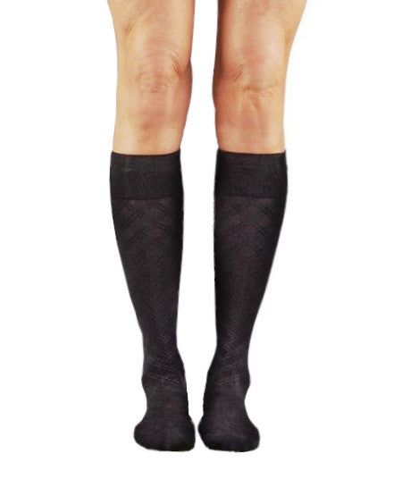 SOUL LEGS Men's Double Cross Dress Socks 15 - 20mmHG