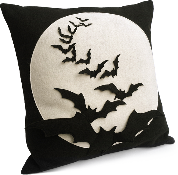 Bat Flight - Full Moon Series 18 inch Pillow Cover - Studio Arethusa  - 1