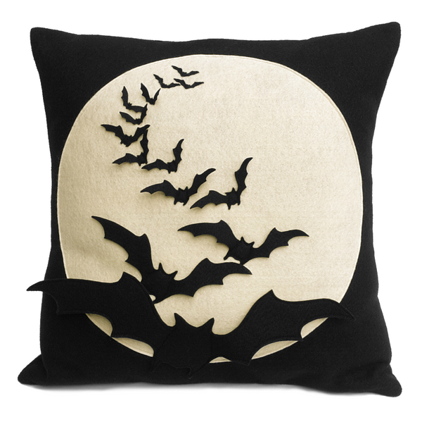 Bat Flight - Full Moon Series 18 inch Pillow Cover - Studio Arethusa  - 2