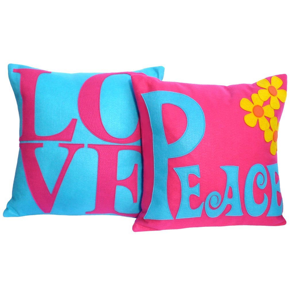 Springtime Love and Peace pillows by Studio Arethusa