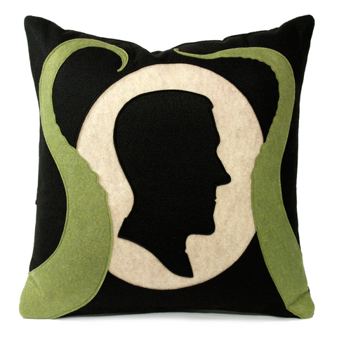 Lovecraft Shadow Silhouette Pillow Cover With Tentacles by Studio Arethusa