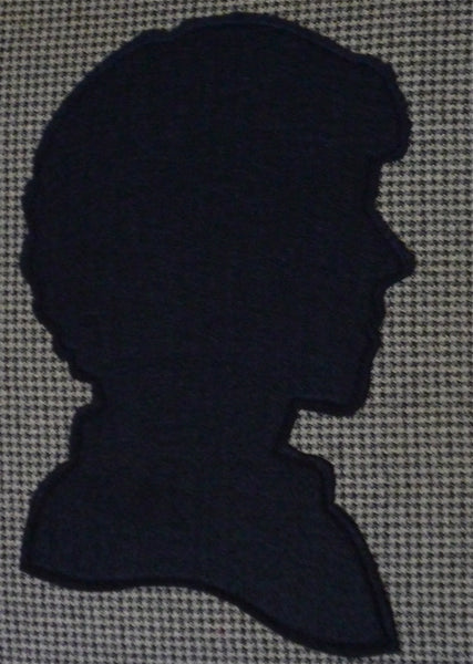 Victorian Style Houndstooth Shadow Silhouette of Sherlock Holmes