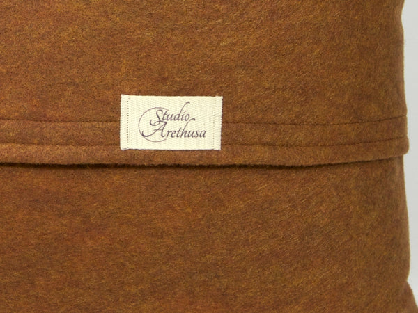Studio Arethusa envelope pillow cover back with label