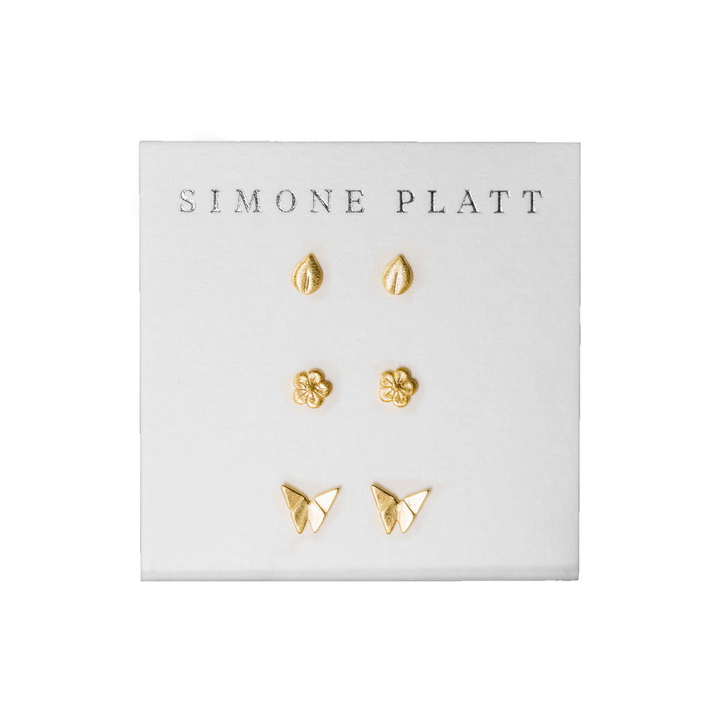 Secret Garden Stud Set | Gold