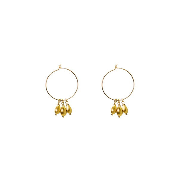 Unity Earrings | Gold Satin