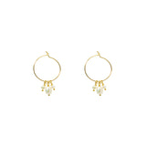 Hope Hoops | Pearl Gold